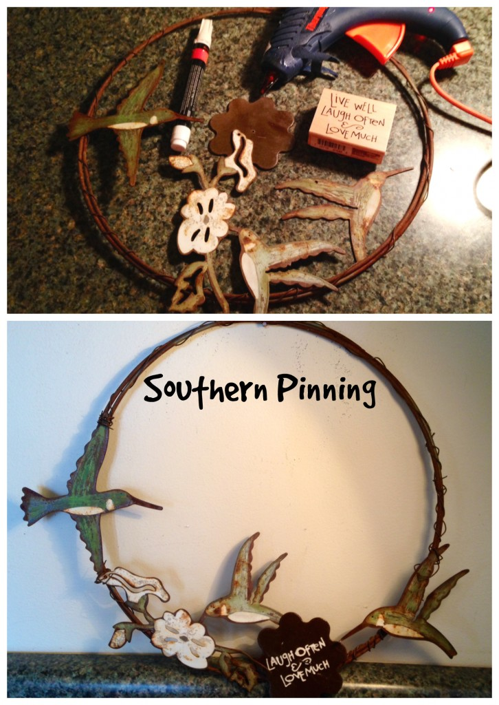 humming bird wreath