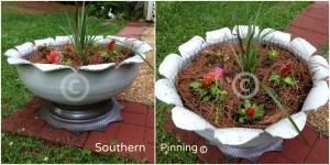 Recycled tire planter project