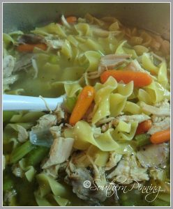 Southern Pinning Turkey Soup